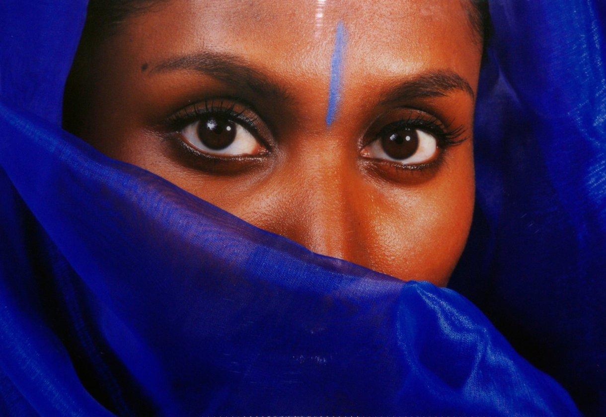 Femme de monde bleu II