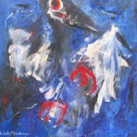 Vogel in blauw