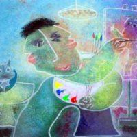 Pintor y gato
