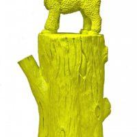 Yellow Cloony on a tree