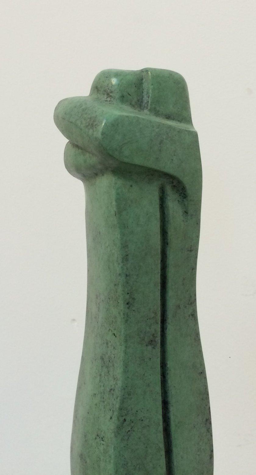 De omarming – Gepatineerd brons