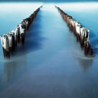 Bollard in the Sea