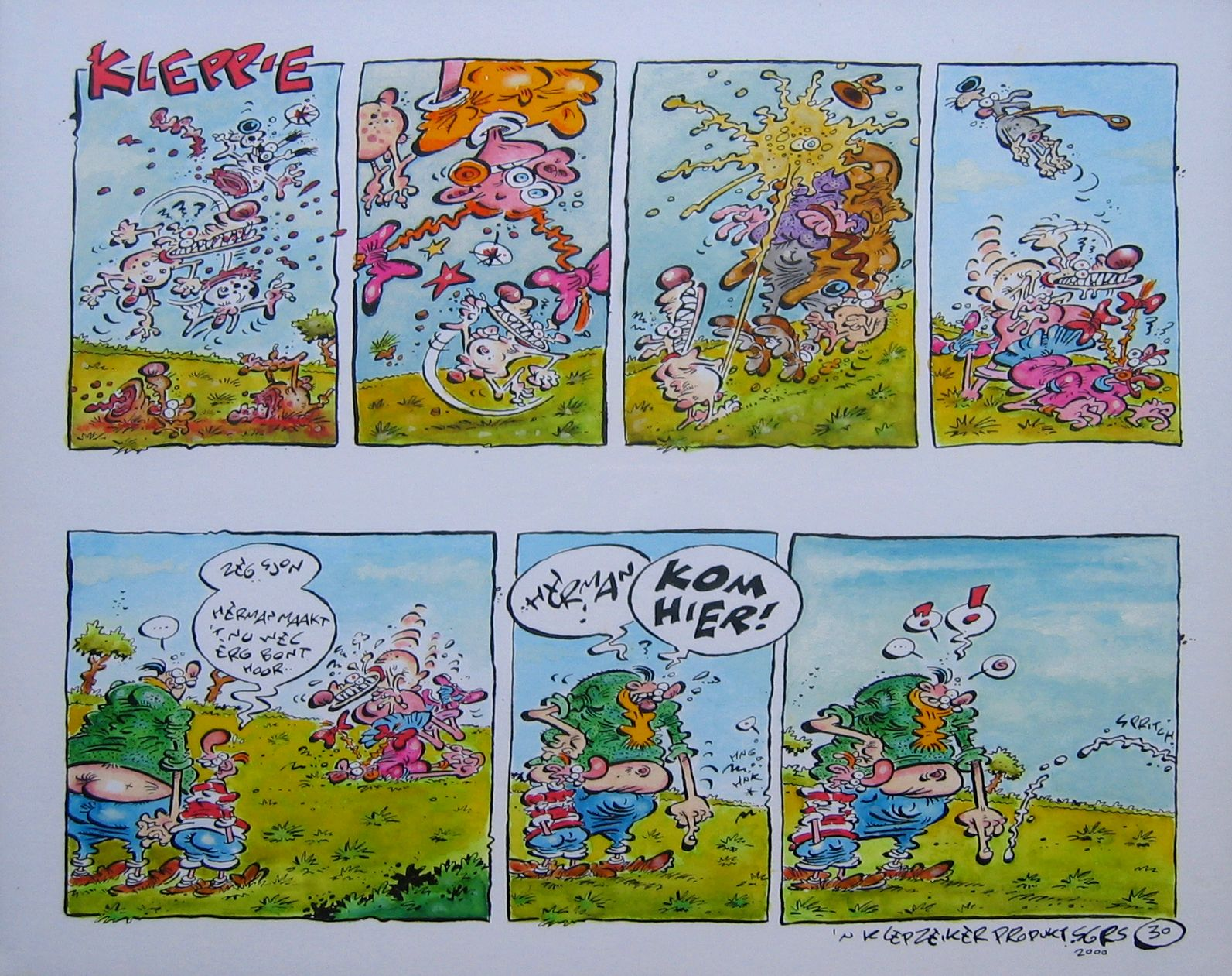 Kom-hier-gr-originele-striptekening-Klep