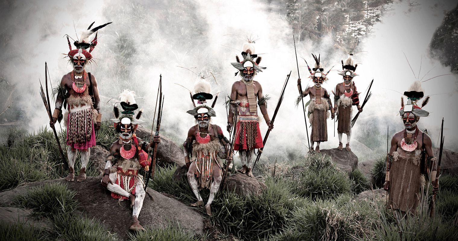 Keke Kombea, Tande Mala, Lebosi Kupu, Mumburi Mupi, John Kundi, Menaja Koke, Likekaipia Tribe Ponowi Village, Jalibu Mountains, Western Highlands