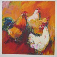 Kippen – zeefdruk