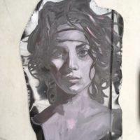 Portret op metalen plaat