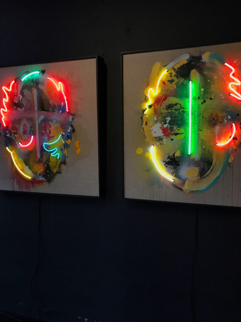 Serie Retratos; Neon 2