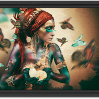 Woman with butterflies II – aluminium