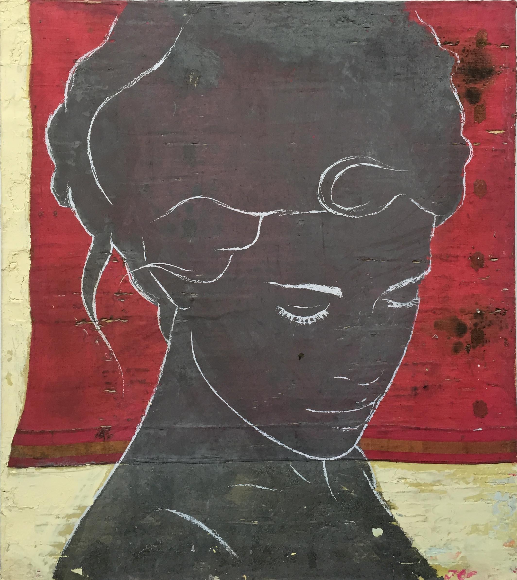 Zaza sari rouge