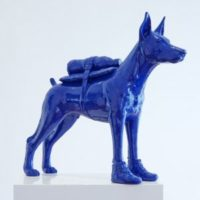 Cloned Doberman with Pet Bottle – Blue