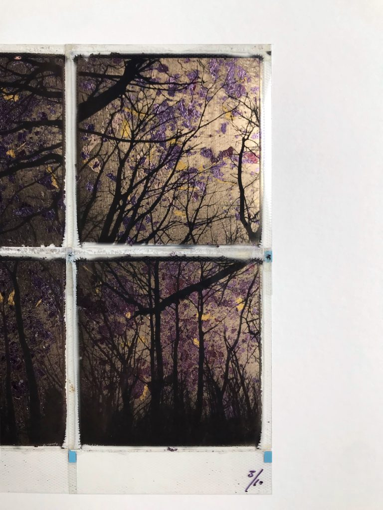 Gilded forrest – Champagne / Purple