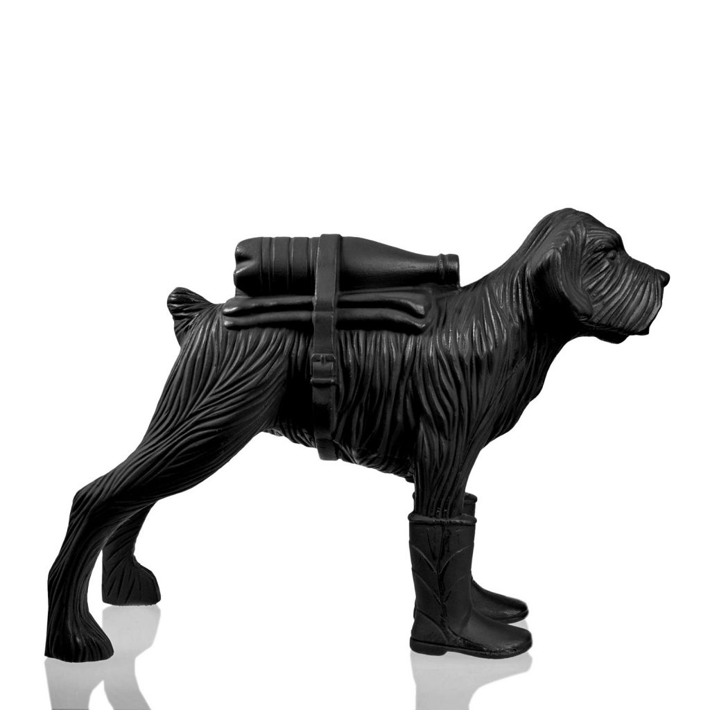 Cloned schnauzer with waterbottle – Black