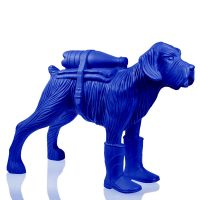 Cloned schnauzer with waterbottle – Blue