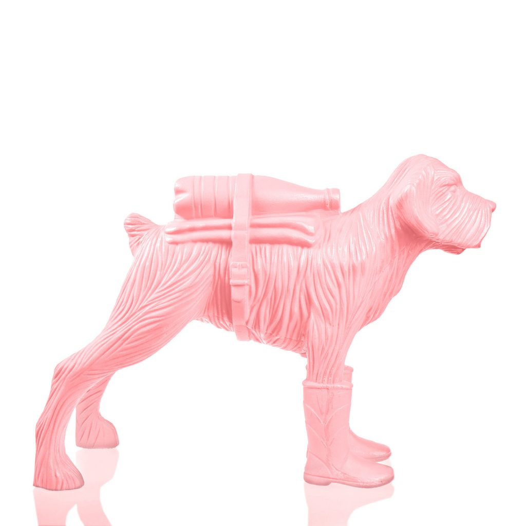 Cloned schnauzer with waterbottle – Pink