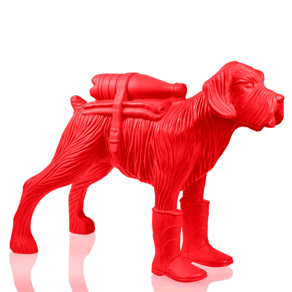 Cloned schnauzer with waterbottle – Red