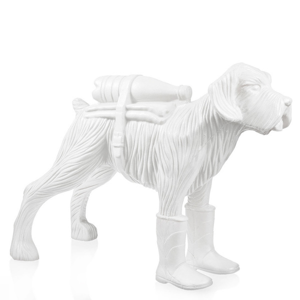 Cloned schnauzer with waterbottle – White
