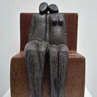 Het Paar op de Bank – keramiek