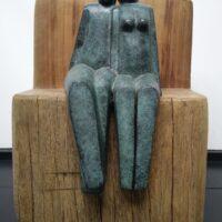 Het Paar op de Bank – gepatineerd brons