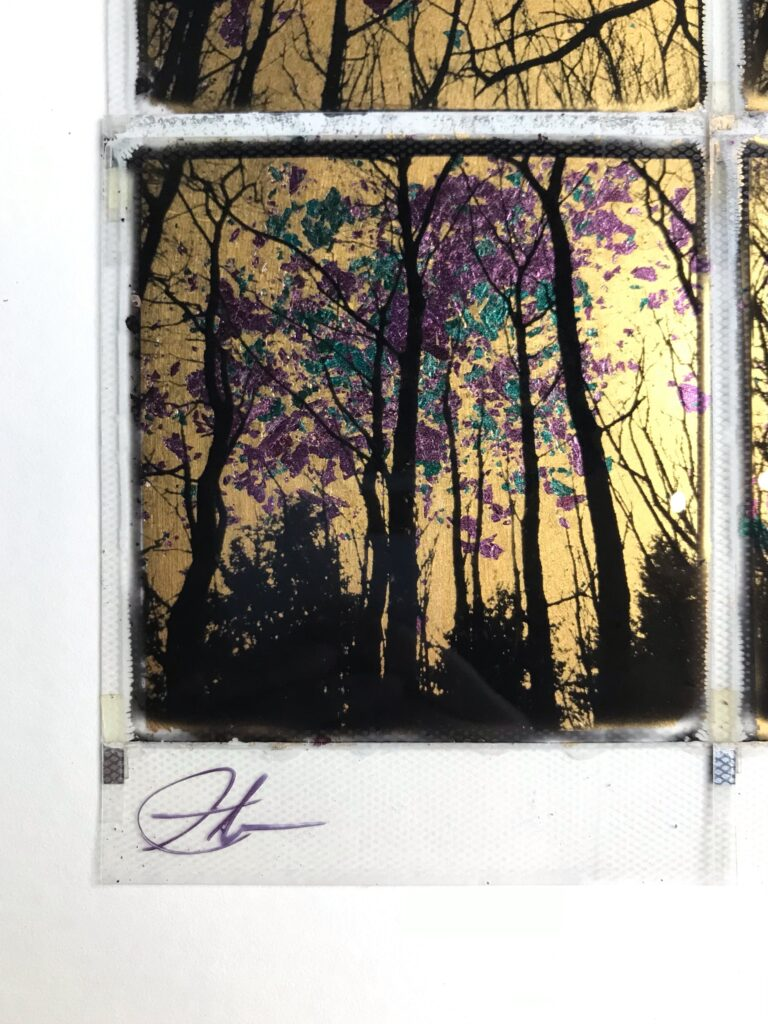 Gilded forrest – Gold / Blue / Purple