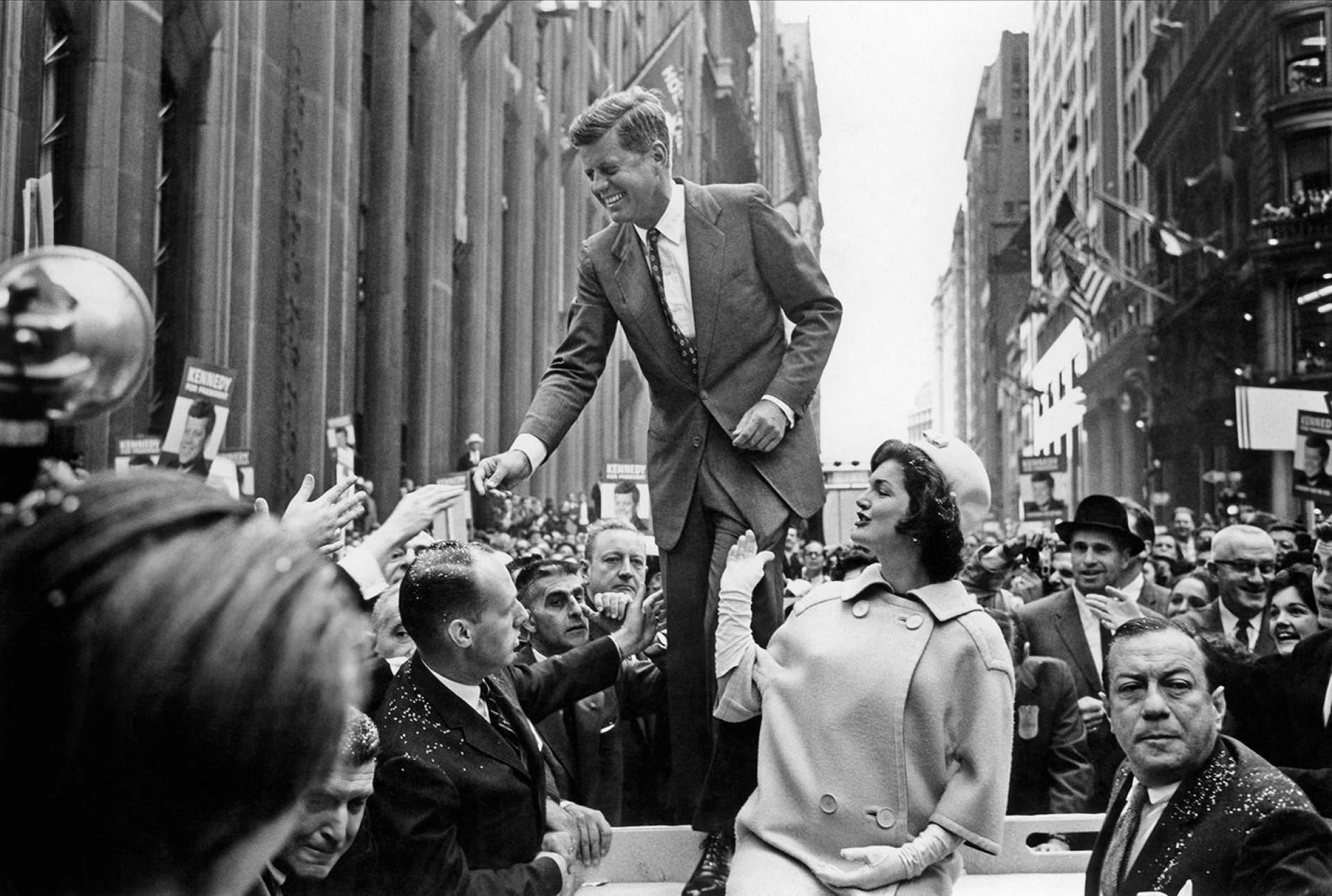 John F. Kennedy campaigning