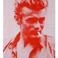 James Dean – Red and White