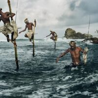 Fishermen, Weligama, South Coast, Sri Lanka, 1995