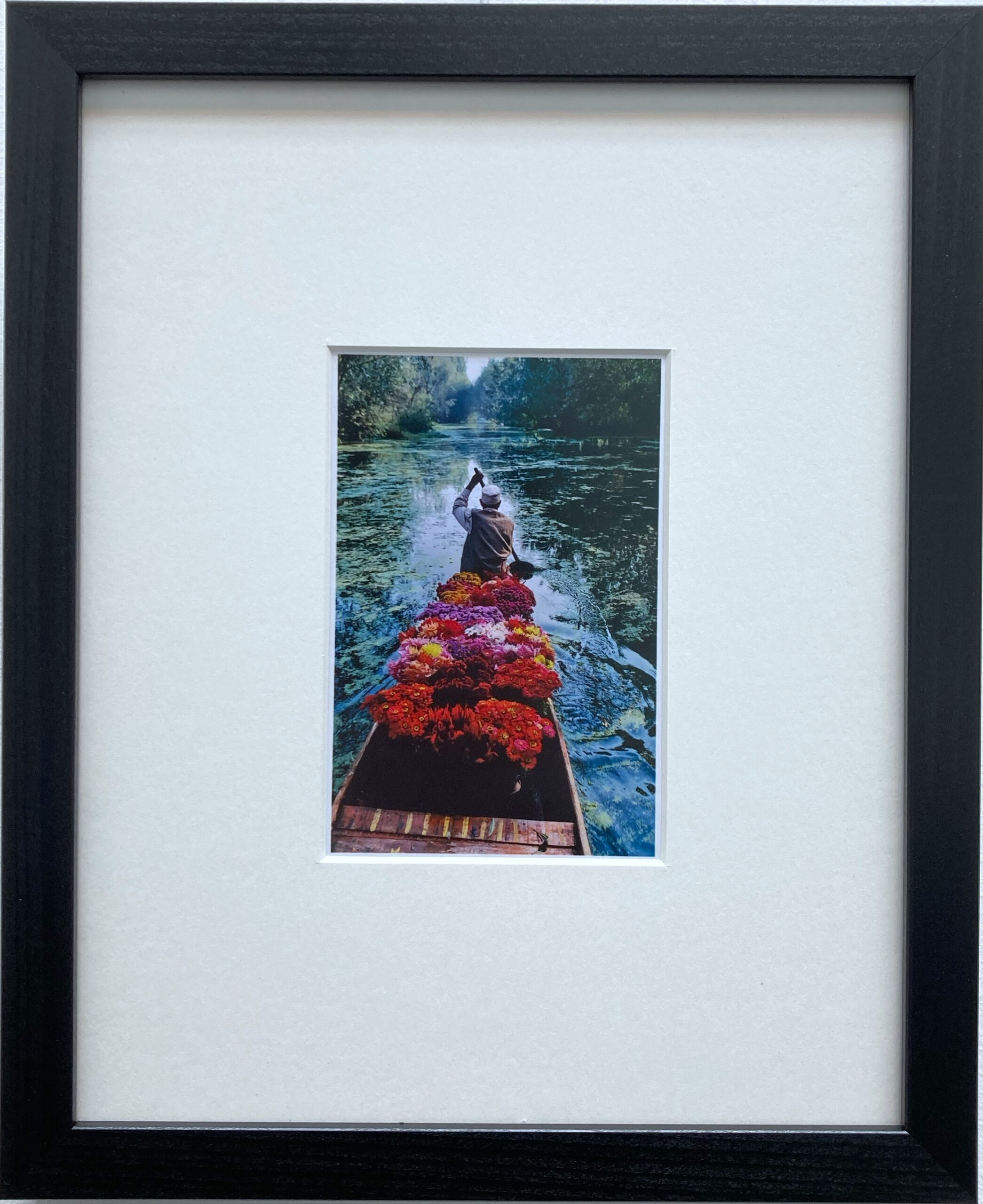 Flower Seller: Dal Lake, Srinagar, Kashmir, 1996